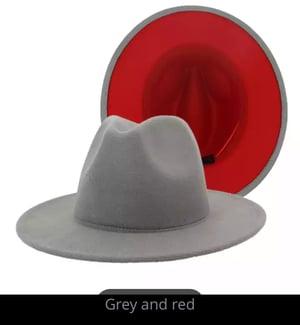 Image of Fashionable Red Bottom Fedora