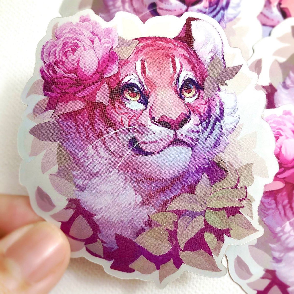 Shiny Tiger with Flower