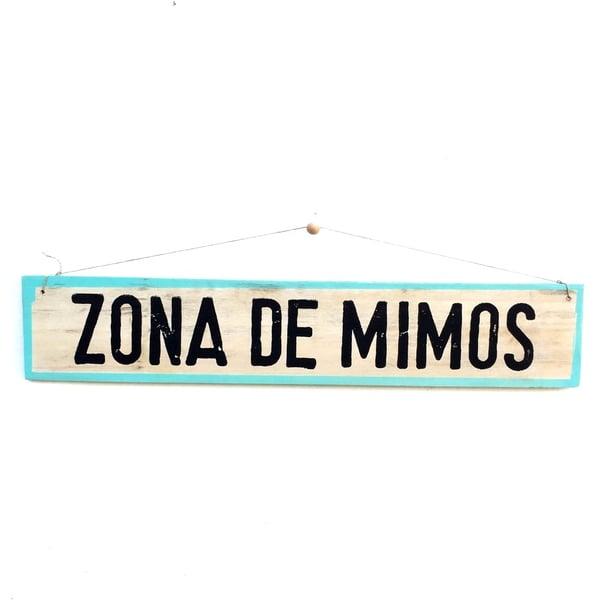 Image of Cartel Zona de mimos