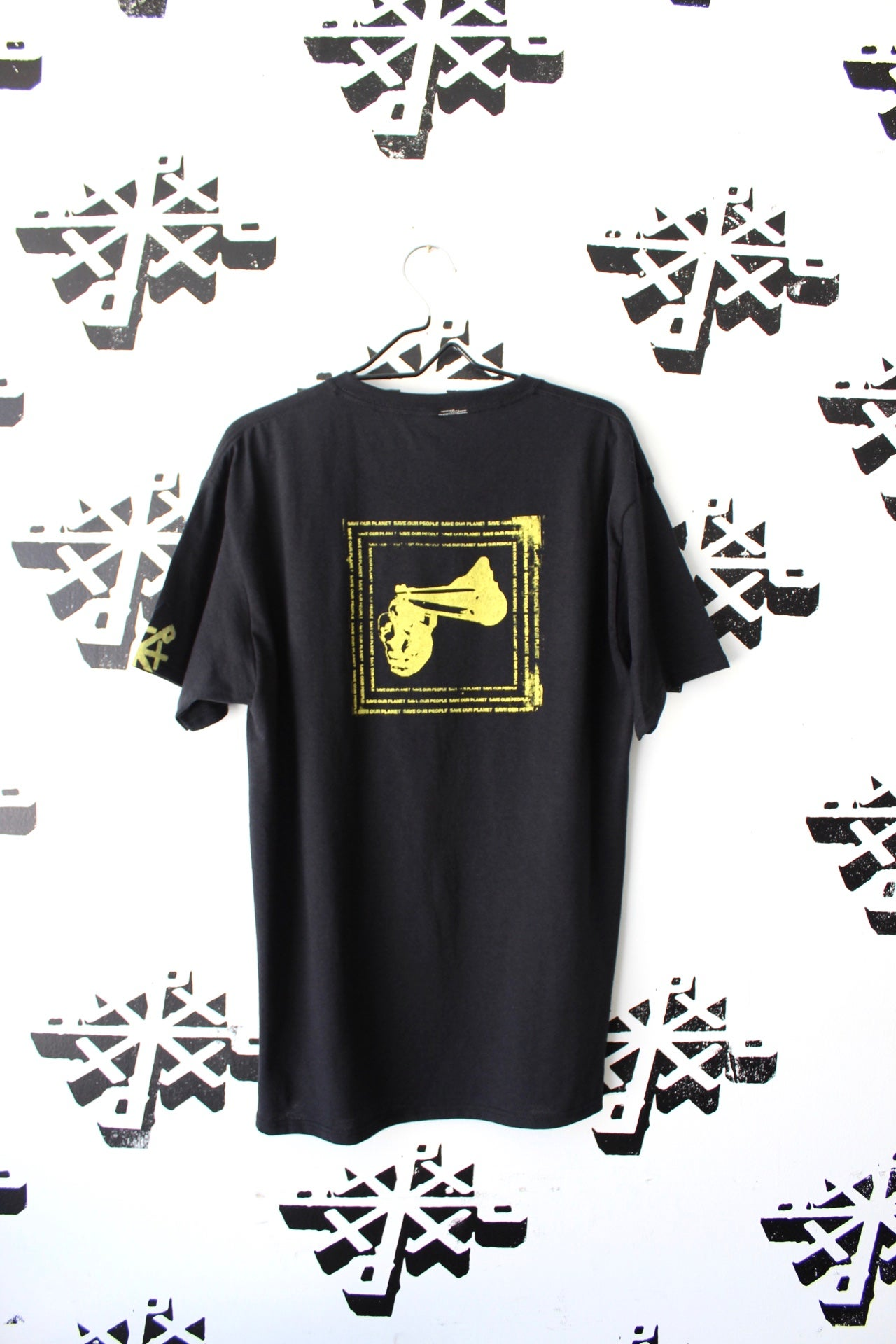 Image of save our planet save our people tee in black