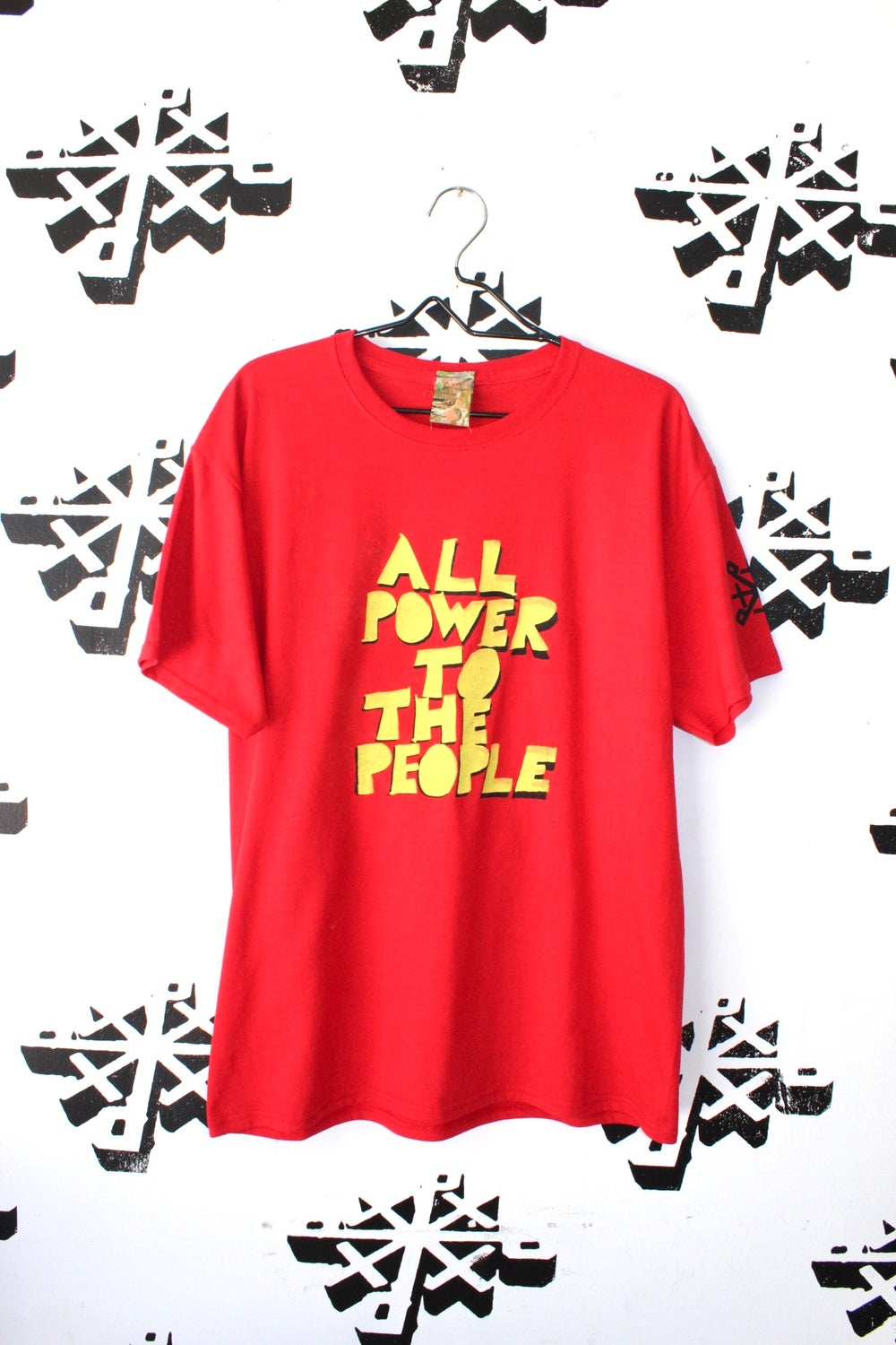 all power tee in red