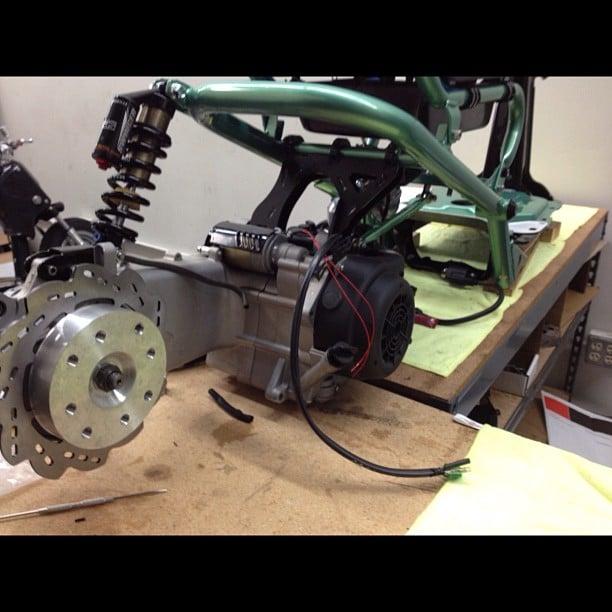 FLP - GY6 Disk Brake hub and Bracket