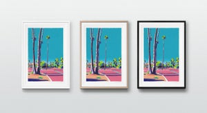 Image of Palm Springs Parking Lot (giclee Print, A3)