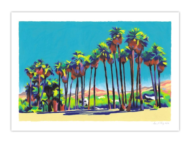 Image of Indian Canyon Palm Trees (giclee Print, A3)
