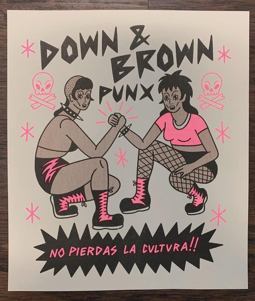 "Image of ""Down & Brown Punx"" Risograph Print"