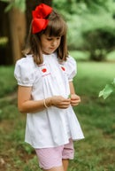 Image 1 of Back To School Hand Smocked Apple Collection