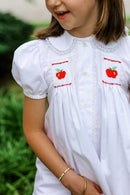 Image 2 of Back To School Hand Smocked Apple Collection