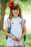 Image 3 of Back To School Hand Smocked Apple Collection