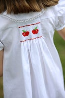 Image 4 of Back To School Hand Smocked Apple Collection