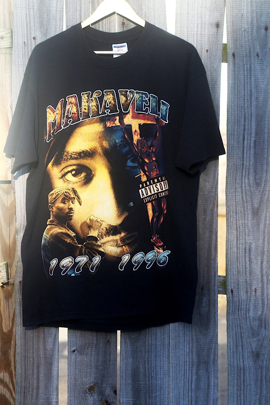 Image of Rare 1996 MAKAVELI (2PAC) - THE DON KILLUMINATI: THE 7 DAY THEORY (1996) Rap Tee