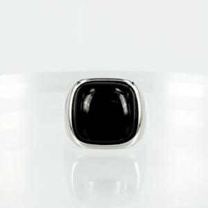 Image of M2132 - 14ct white gold onyx dress ring