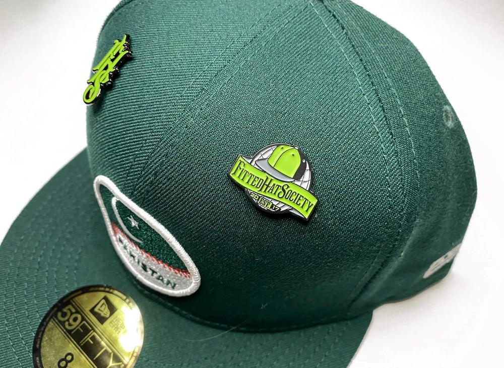 FHS World Enamel Pin - Green (Glow in the Dark)