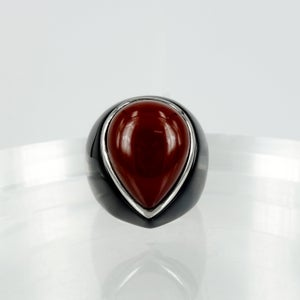Image of M2900 - Onyx and agate ring