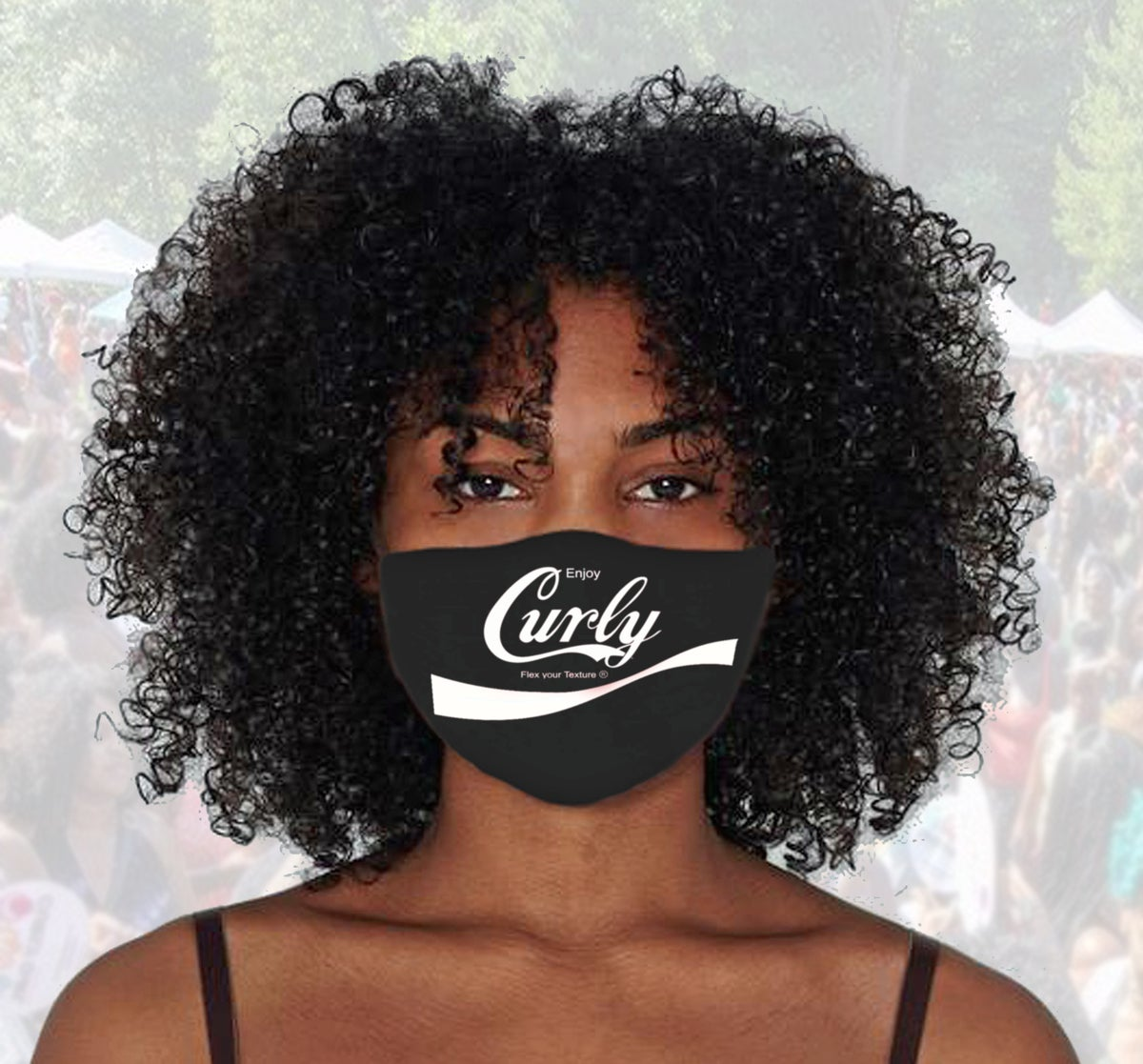 Image of Curly (coke spoof) Face Mask cover
