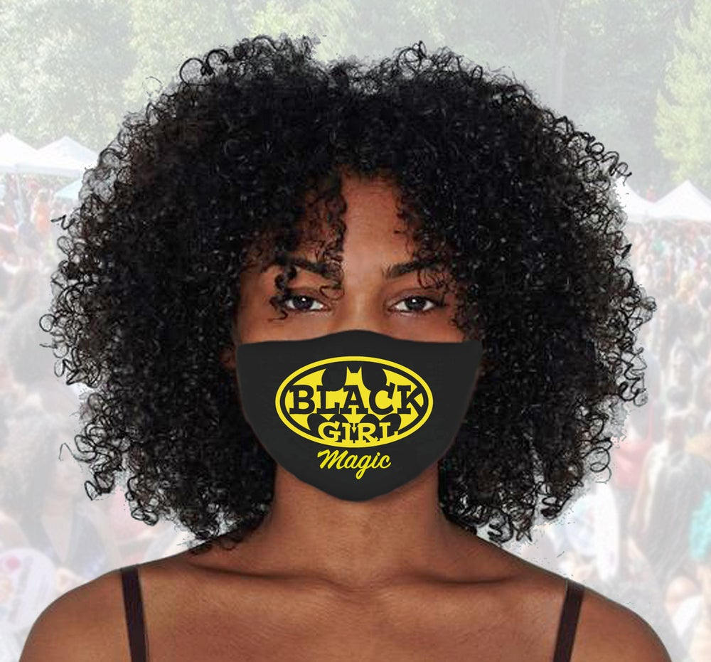 Image of Batgirl Black Girl Magic FACE MASK