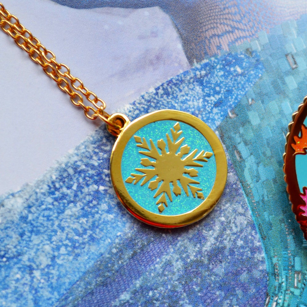 Image of Snowflake Medallion Necklace