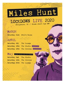 Image of Miles Hunt's Lock Down Live Poster - Pre-Order