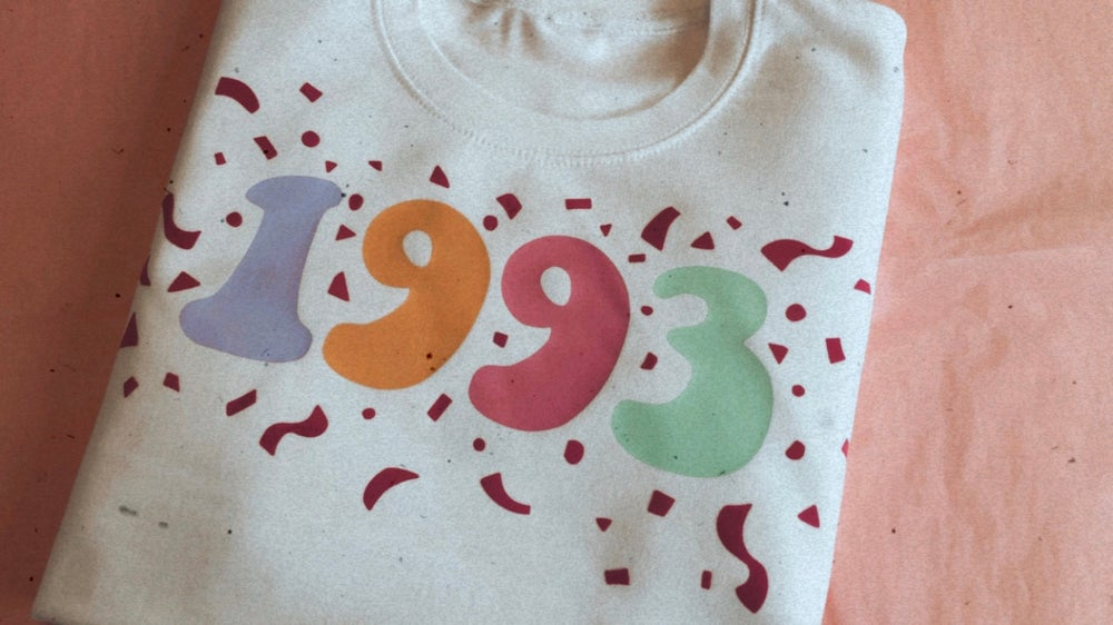 Image of Birthday pastel print confetti sweater