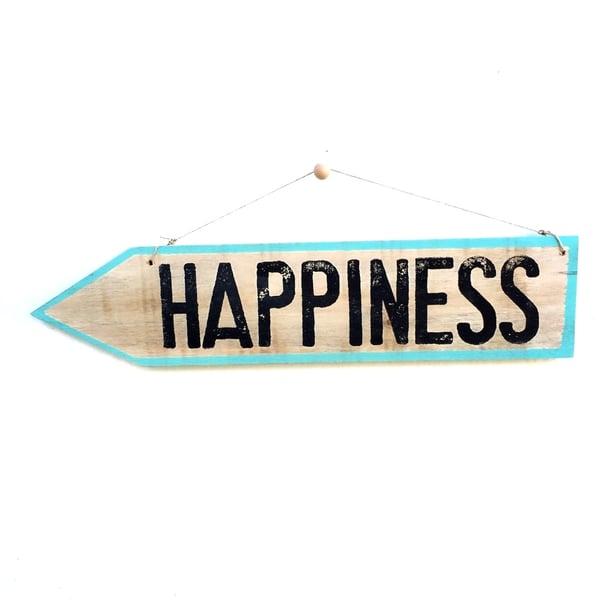 Image of Cartel flecha HAPPINESS