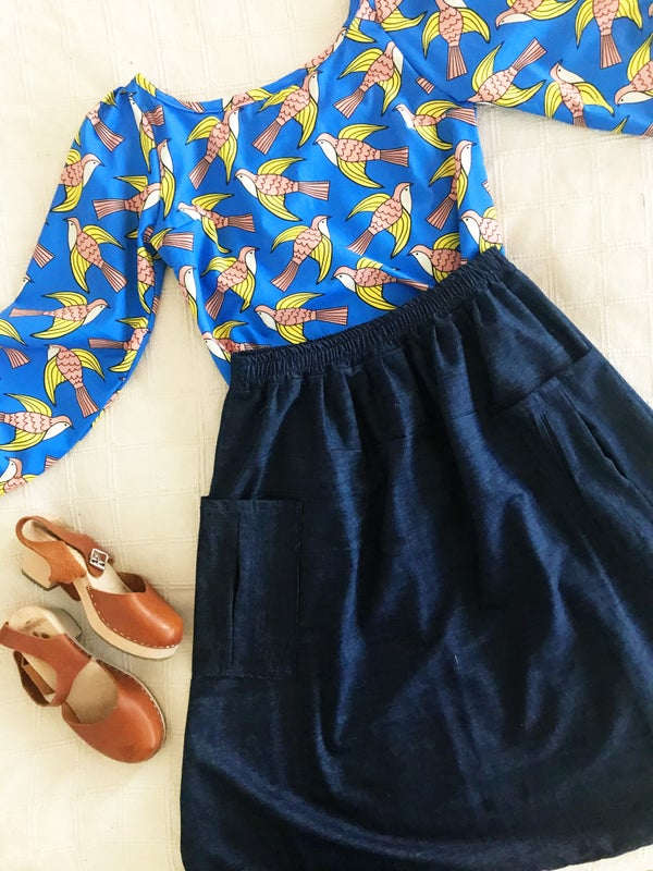 Image of Ready Made Denim Rachael Skirt with Free Postage