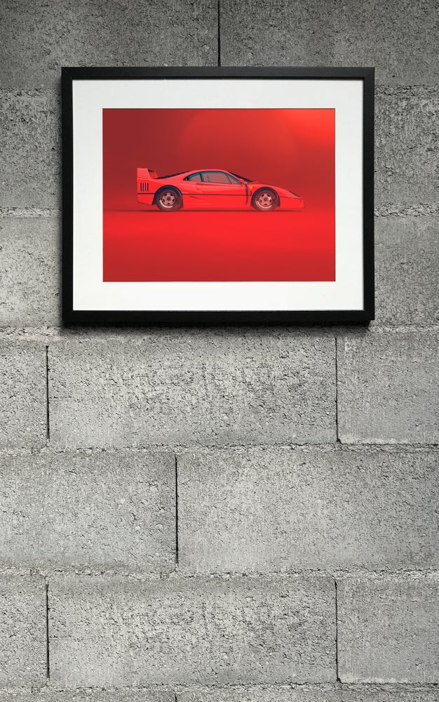 Image of F40 RED side print