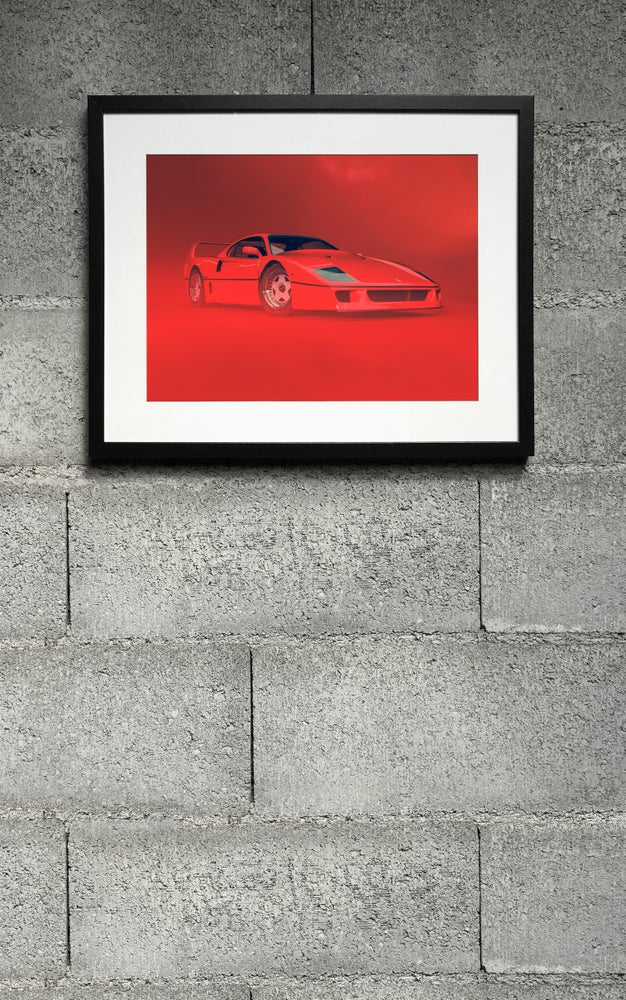 Image of F40 RED front right print