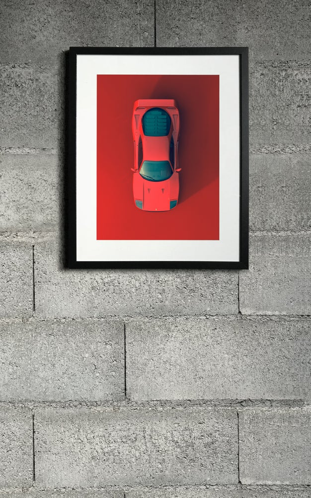 Image of F40 RED top print