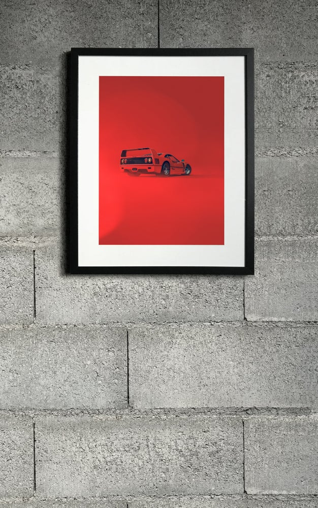 Image of F40 RED rear print