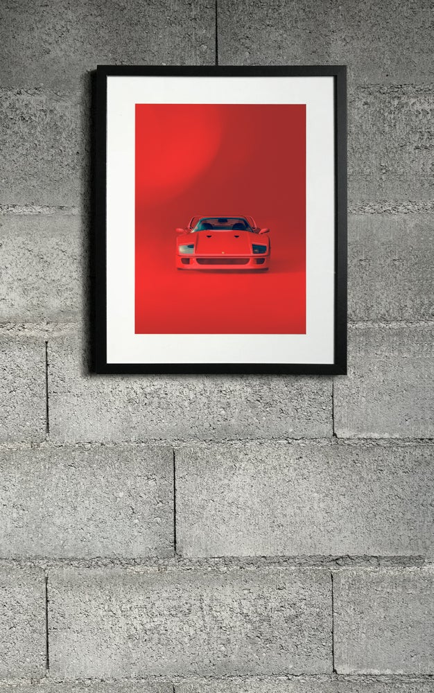 Image of F40 RED front print