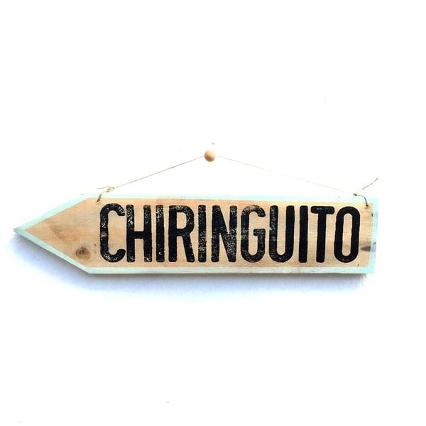 Image of Cartel flecha Chiringuito