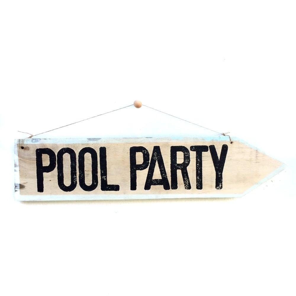 Image of Cartel flecha Pool party