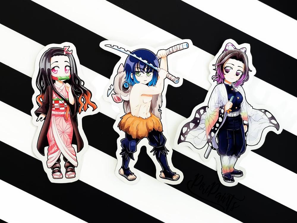 Nezuko Kamado / Inosuke Hashibir / Shinobu Kocho Sticker
