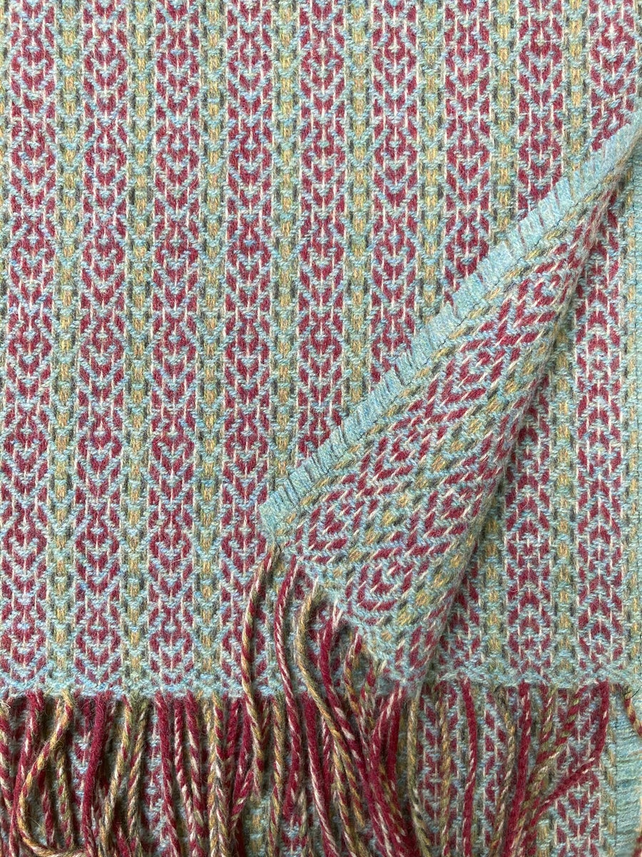 Image of Berry & Eucalyptus 'Deco Fan' scarf