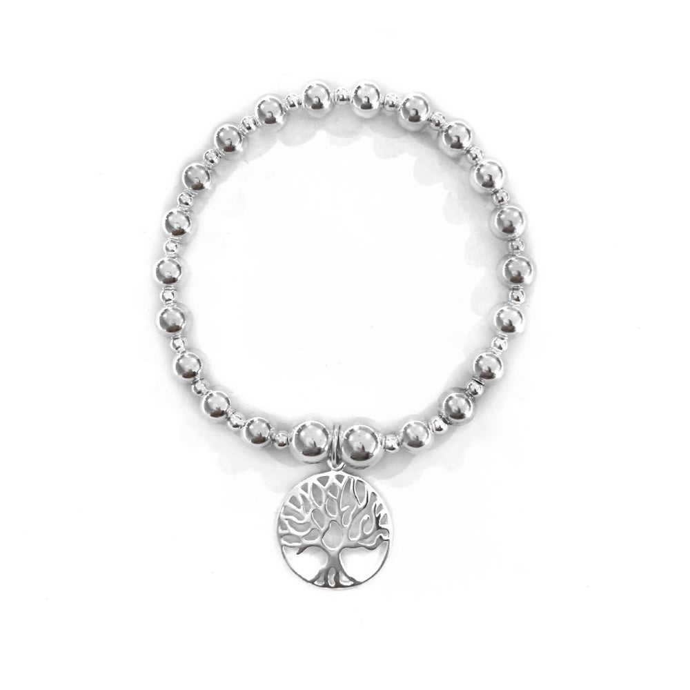 Image of Sterling Silver Large Tree of Life Bracelet