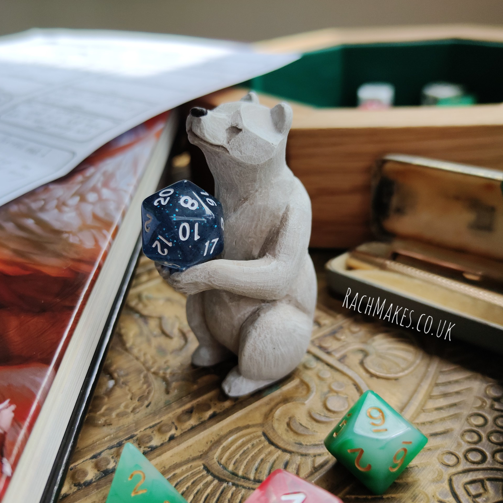 Image of Bear Dice Guardian - polar bear