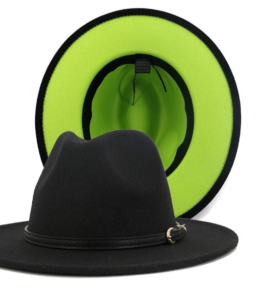 Image of Neon Bottom Black Fedora