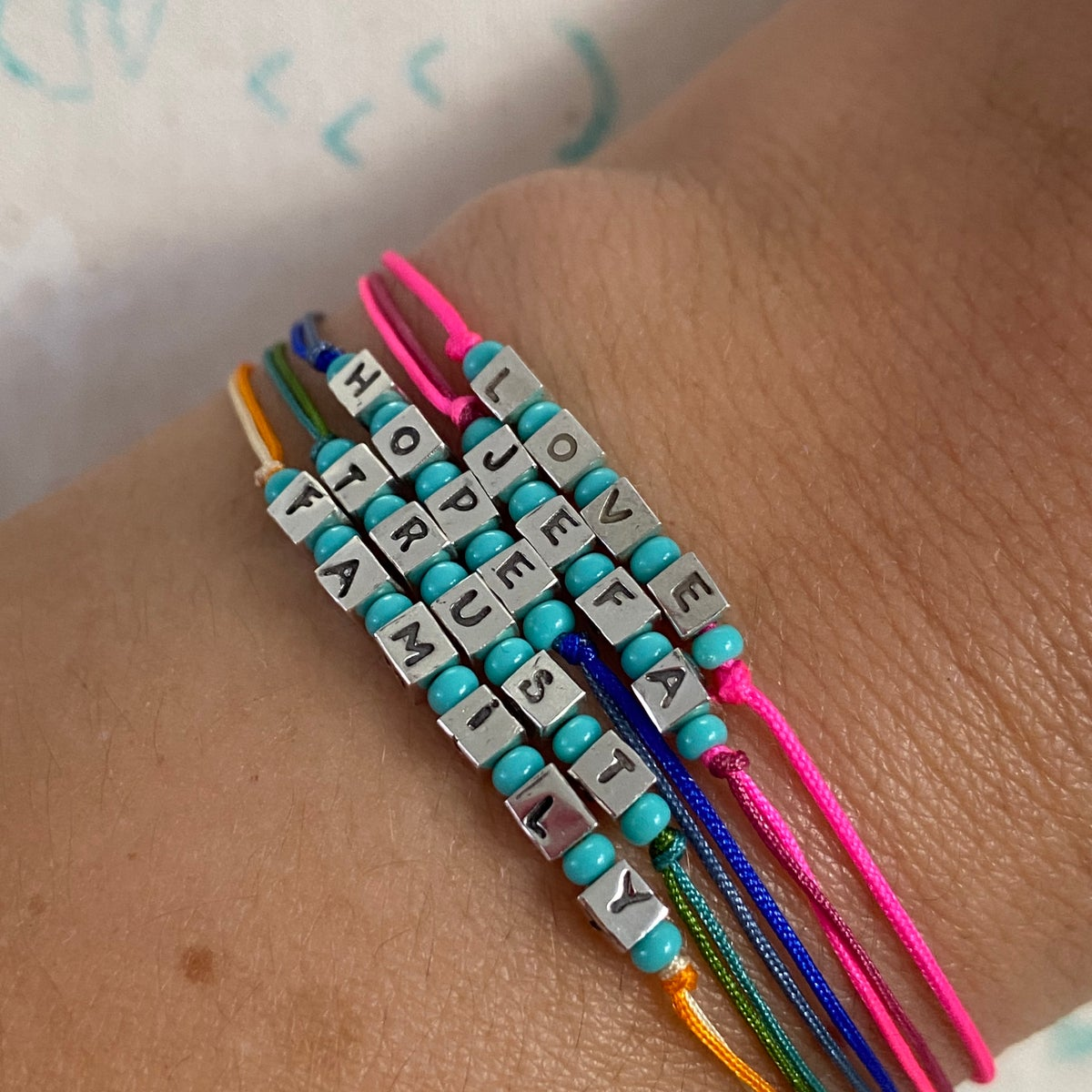 Image of Tiny Letter blocks bracelet
