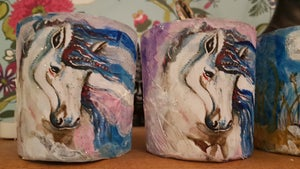 Artwork Candle Holders