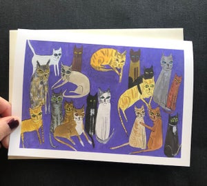 Image of Cats Galore. Greeting card set.