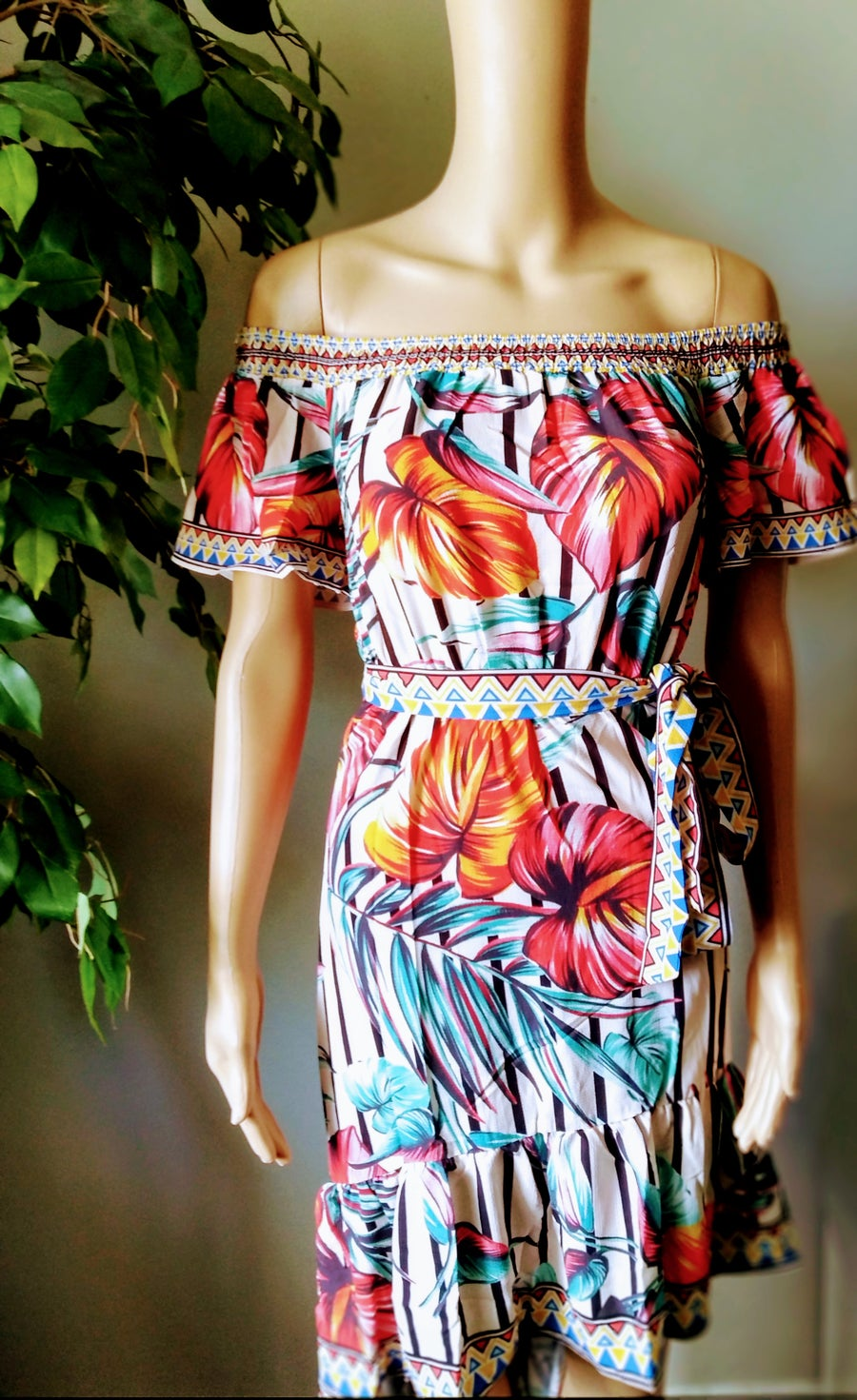 """Image of """"Tropical Vibes"""" Dress"""