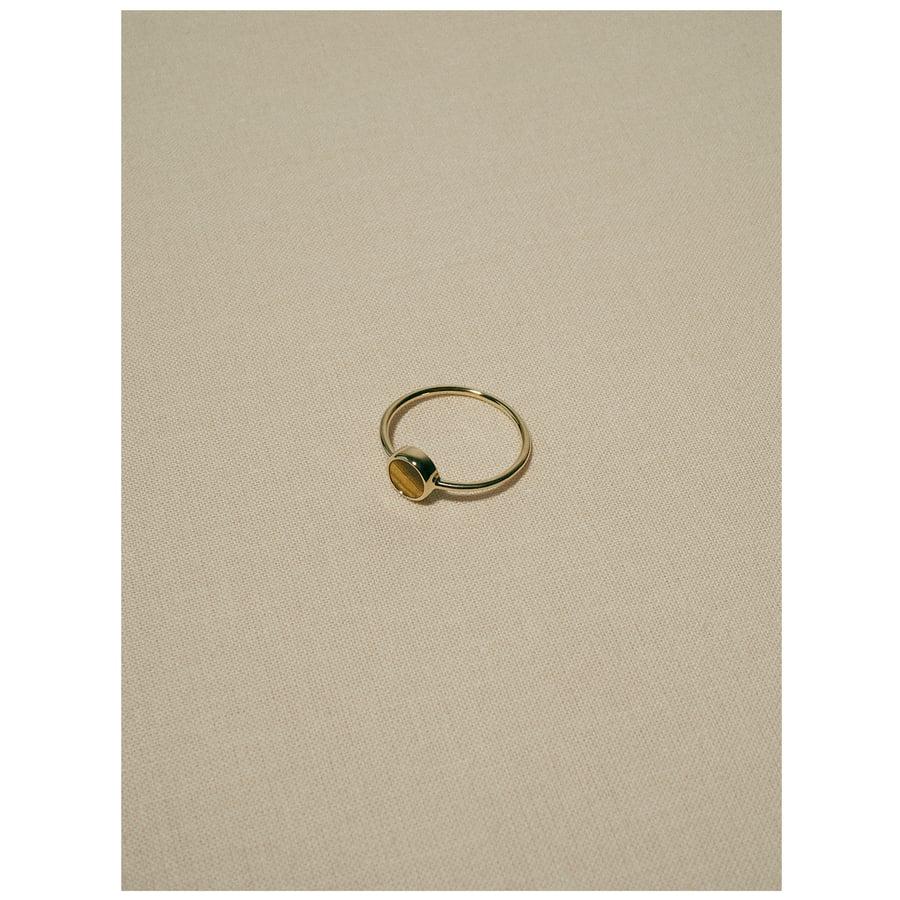 Image of gem ring · gold