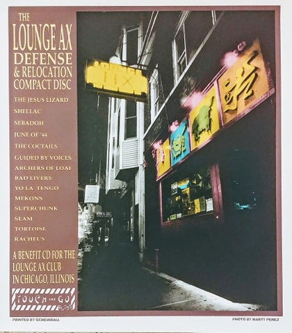 Image of Lounge Ax D & L CD promo poster