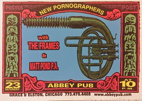 Image of New Pornographers poster