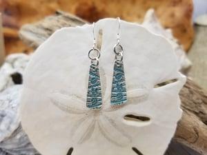 Image of Recycled Fine Silver- Handmade- Ocean- Earrings- #360