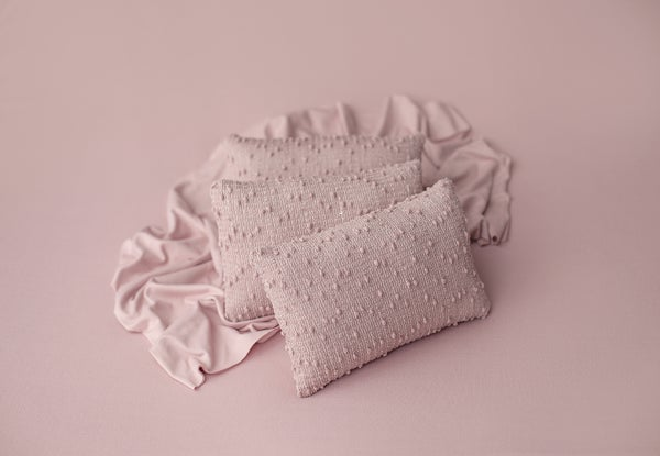 Image of Mauve Textured Pillow