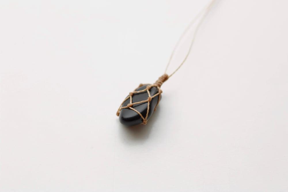 Image of Black Obsidian pendant