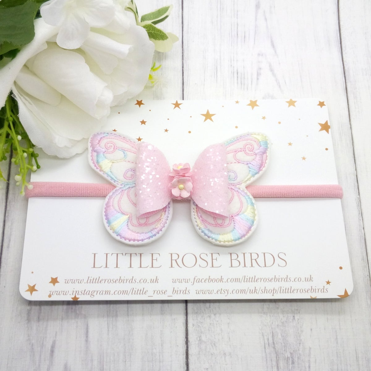 Image of Pink Pastel Butterfly Bow