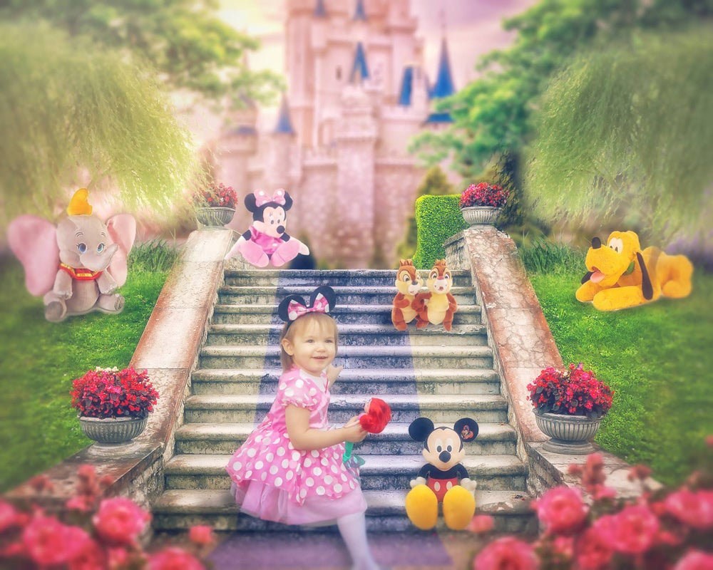 Image of Castle Steps with Characters