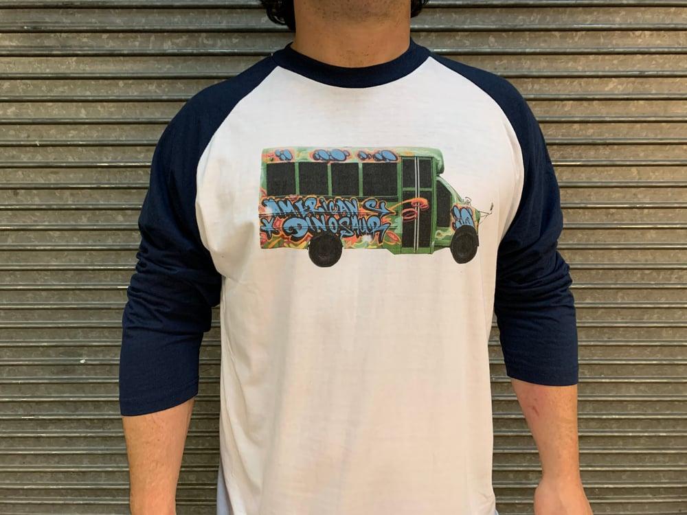 Band Bus Baseball Tee