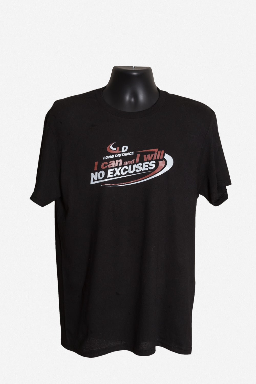 "Image of Black ""No excuses"" T-shirt"